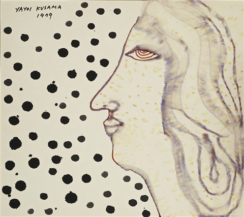 woman and rain by yayoi kusama