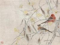 工笔花鸟 by jiang hongwei