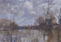floods at shrewsbury by john alford