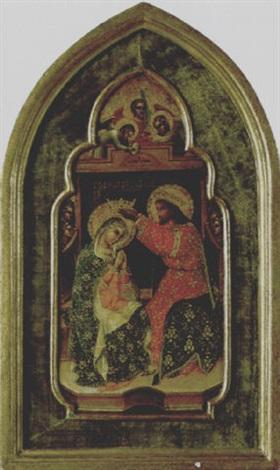 la vergine in trono incoronata da cristo by domenico veneziano