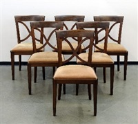 chaises (set of 6) by de coene