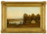 view of philadelphia from the schuylkill river by charles wilson knapp