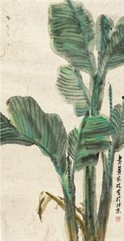 蕉叶图 (musa basjoo leaf) by jiang baolin