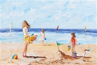 on the beach by lorna millar
