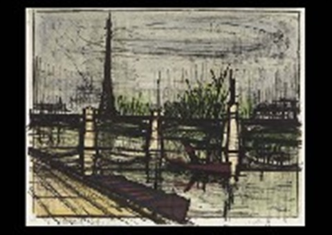le point du jour from album paris by bernard buffet