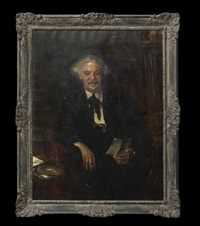 portrait of judge dan powell by wayman adams