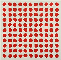 composition with red circles by thorbjørn lausten