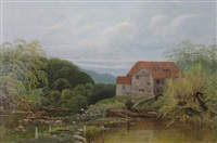 watermill scene by robert weir allen