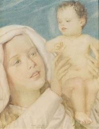 maria mit kind by charles-louis rivier