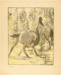 pferde in der sonne by franz marc