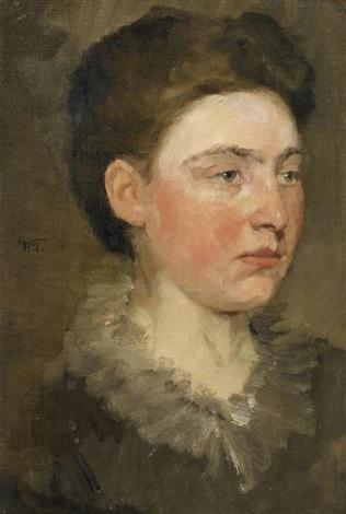 damenporträt by wilhelm trübner