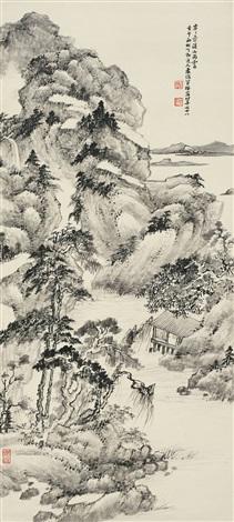 溪山雨霁 landscape by xiao junxian