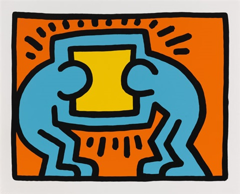 pop shop vi set of 4 by keith haring