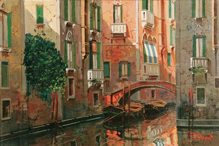 canal scene venice by raimondo roberti