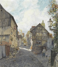 ranzengasse in wildungen by heinrich rettig