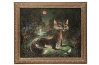 fox with feather by darrel austin