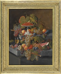 fruit composition with tazza of strawberries by severin roesen