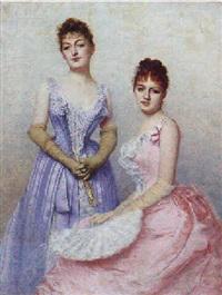 to unge kvinder i festkjoler by marta aronson-danzig