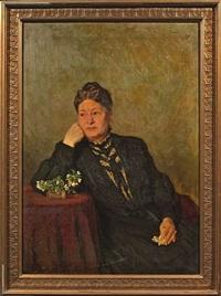 portrait des friedrich debach (+ portrait seiner ehefrau johanna; pair) by otto jung