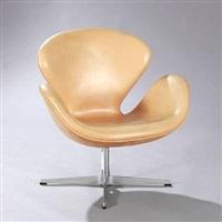 the swan easy chair (model 3316) by arne jacobsen