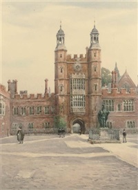 lupton's tower from the cloisters, eton college by william a. macdonald