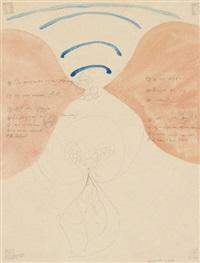 ohne titel (spinne in ihrem netz) (from bienenserie) by anatol (karl heinz herzfeld)