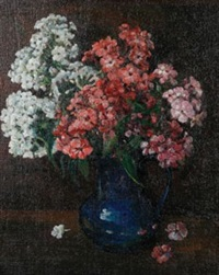 still life of flowers by william thornton brocklebank
