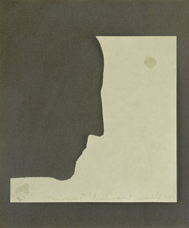 self portrait in profile by marcel duchamp