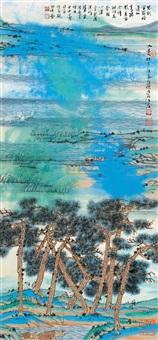 水边林下 (landscape) by jiang hong