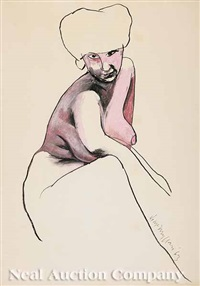 seated nude (+ 2 others; group of 3) by james mcmillan
