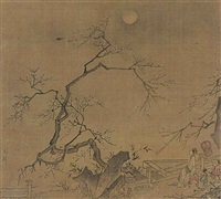 enjoying moonlight under trees by anonymous-chinese (15)