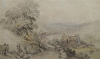 view of hastings, east sussex; the road to eltham, kent; extensive landscape in kent; landscape study (4 works) by george bryant campion