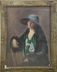 portrait de dame by a. bastien