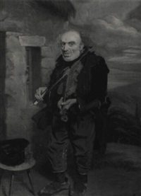 the village fiddler, portait of jemmy stewart of berwick-upon-tweed by thomas sword good