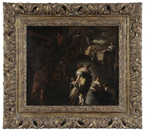 the presentation of the virgin by jacopo robusti tintoretto