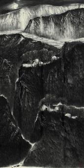 蜀山皓月图 by deng shihua