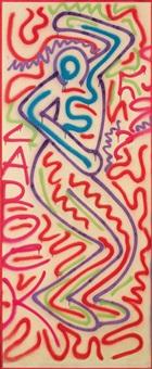 ohne titel (dancing man) by la ii (angel ortiz) and keith haring