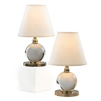 ball lamps (pair) by jacques adnet