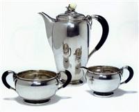 danish coffee set (set of 3) by theodor sabroe