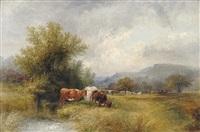 on the longshaw moors, derbyshire by walter henry pigott