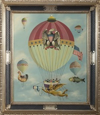 patriotic balloon ascension by ralph eugene cahoon jr.