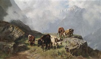 auf der alm (after christian mali) by maximilian ludwig lanninger