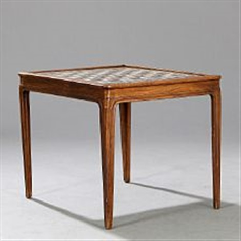 Coffee Table With Mosaic Chess Board By Kay Simmelhag By Frits Henningsen