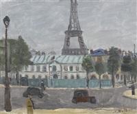 pariser stadtansicht mit eiffelturm by alexandre rochat