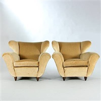 easy chairs (pair) by guglielmo ulrich