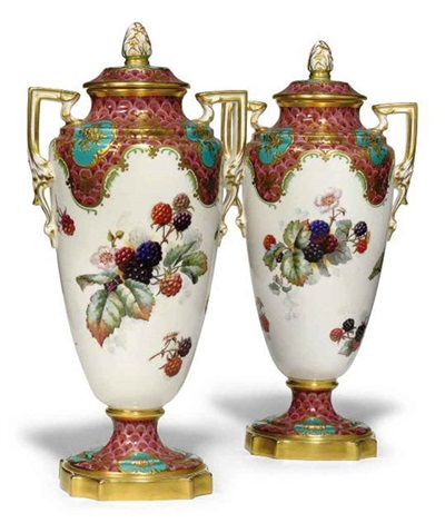 Vase Wcover Another Pair By Copeland Spode On Artnet