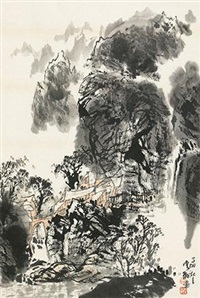 云山闲居 (spiritual abode on a hill laced with streams) by baiyun xiang