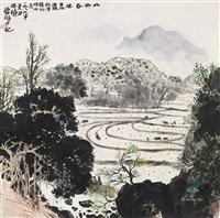 山乡春晓 (spring scene) by lin fengsu