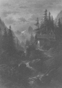 romantische gebirgslandschaft by hildegard lehnert