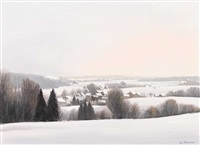 winterlandschaft by claude sauthier